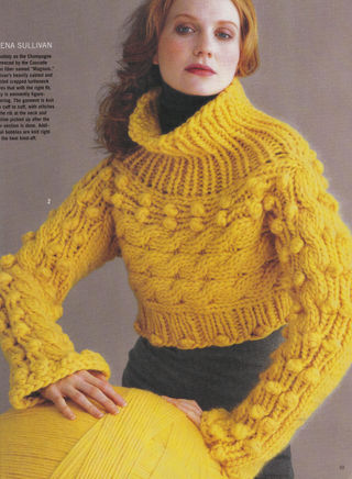 Cropped Cabled Turtleneck