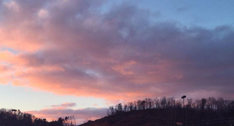 Sunset over walmart
