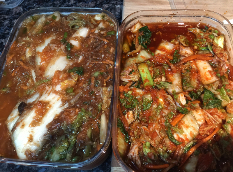 Kimchi comparison